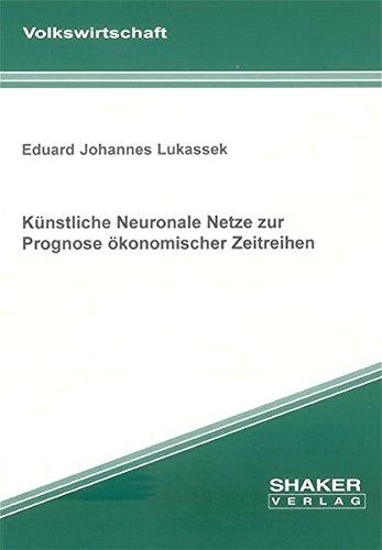 9783832238384: Künstliche Neuronale Netze zur Prognose ökonomischer Zeitreihen