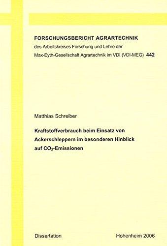 9783832251598: Kraftstoffverbrauch beim Einsatz von Ackerschleppern im besonderen Hinblick auf CO2-Emissionen