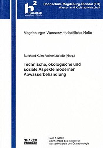 9783832255985: Technische, ökologische und soziale Aspekte moderner Abwasserbehandlung