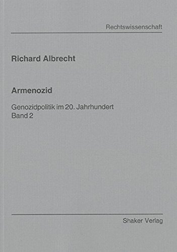 9783832257385: Armenozid: Genozidpolitik im 20. Jahrhundert. Band 2