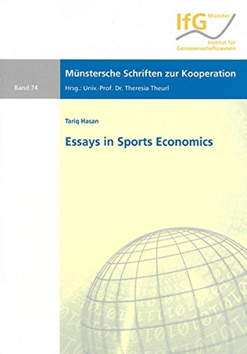 Essays in Sports Economics: Tariq Hasan