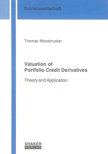 9783832259112: Valuation of Portfolio Credit Derivates: Theory and Application (Berichte aus der Betriebswirtschaft)