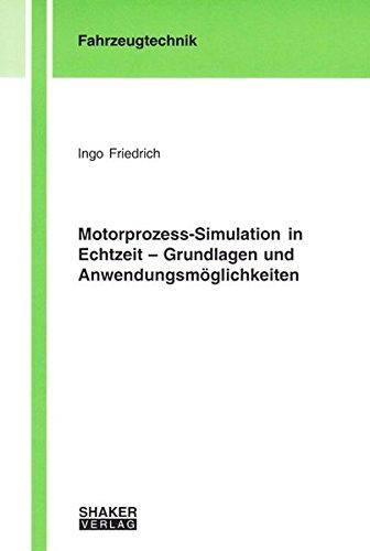 9783832270193: Motorprozess-Simulation in Echtzeit - Grundlagen und Anwendungsmöglichkeiten