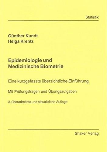 9783832271039: Epidemiologie und Medizinische Biometrie: Eine kurzgefasste �bersichtliche Einf�hrung - Mit Pr�fungsfragen und �bungsaufgaben
