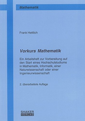 9783832281533: Vorkurs Mathematik