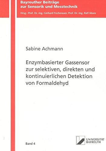 9783832283780: Enzymbasierter Gassensor zur selektiven, direkten und kontinuierlichen Detektion von Formaldehyd