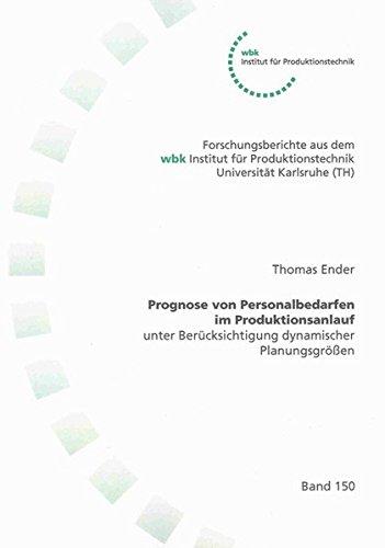 9783832283957: Prognose von Personalbedarfen im Produktionsanlauf