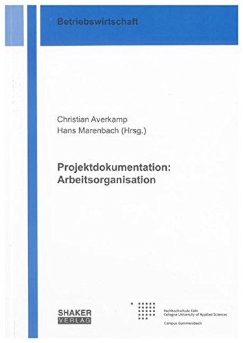 Projektdokumentation: Arbeitsorganisation: Christian Averkamp
