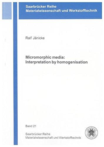 Micromorphic media: Interpretation by homogenisation: Ralf Jänicke