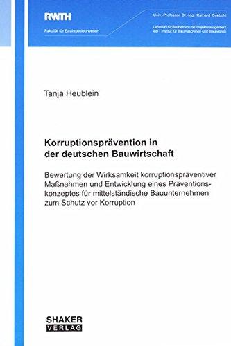 Korruptionsprävention in der deutschen Bauwirtschaft: Tanja Heublein