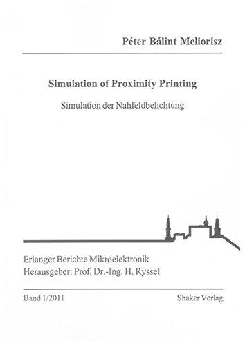 Simulation of Proximity Printing: P�ter B�lint Meliorisz
