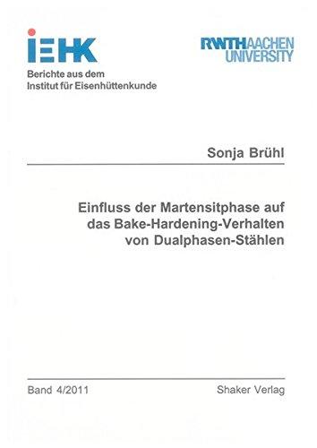 Einfluss der Martensitphase auf das Bake-Hardening-Verhalten von Dualphasen-Stählen: Sonja ...