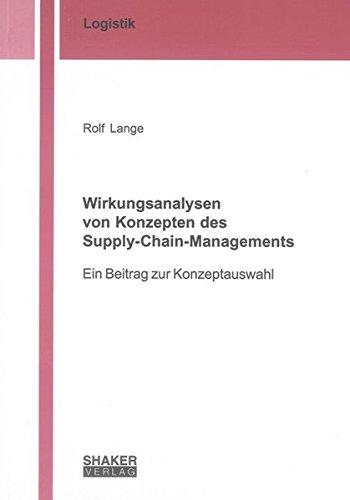 Wirkungsanalysen von Konzepten des Supply-Chain-Managements: Rolf Lange