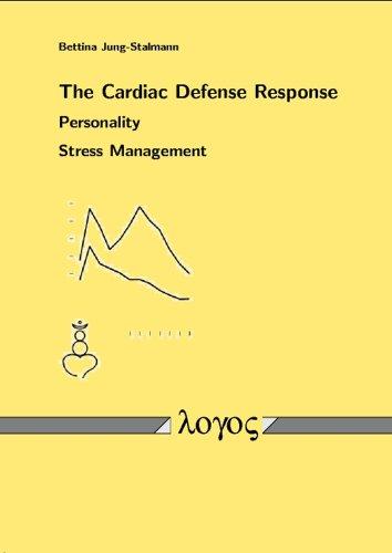 9783832500719: The Cardiac Defense Response - Personality - Stress Management