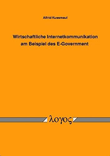 9783832511562: Wirtschaftliche Internetkommunikation am Beispiel des E-Government