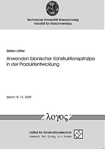 9783832521547: Anwenden Bionischer Konstruktionsprinzipe in Der Produktentwicklung (German Edition)