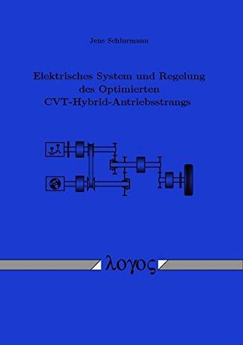 9783832522049: Elektrisches System und Regelung des Optimierten CVT-Hybrid-Antriebsstrangs