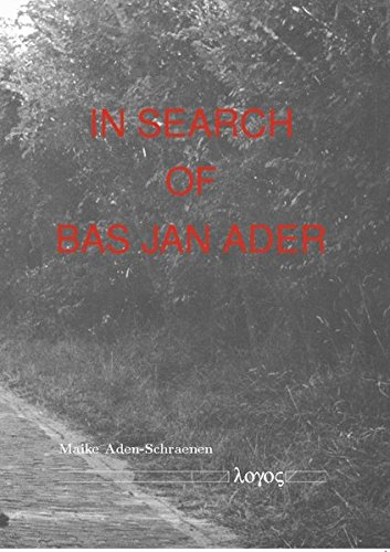 9783832522957: In Search of Bas Jan Ader (German Edition)