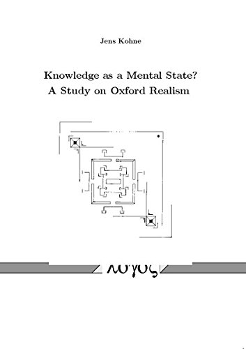 9783832525156: Knowledge as a Mental State? A Study on Oxford Realism