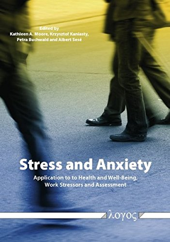 9783832534295: Stress and Anxiety: Applications to Health and Well-Being, Work Stressors, and Assessment