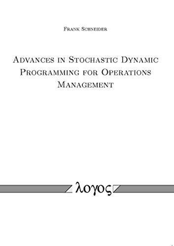 9783832536336: Advances in Stochastic Dynamic Programming for Operations Management