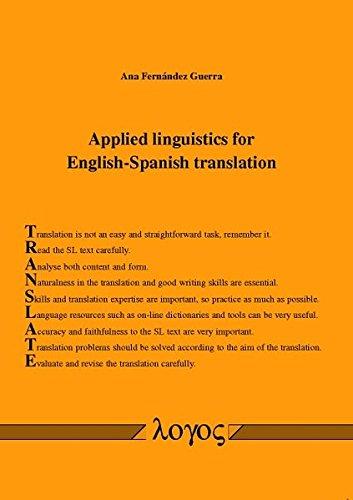 9783832537784: Applied Linguistics for English-Spanish Translation
