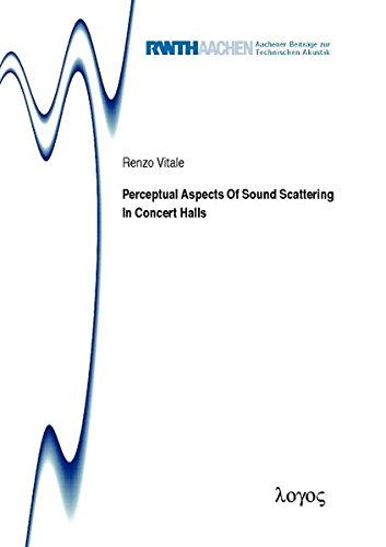 9783832539924: Perceptual Aspects of Sound Scattering in Concert Halls