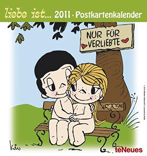 9783832742362: liebe ist... 2011. Postkartenkalender