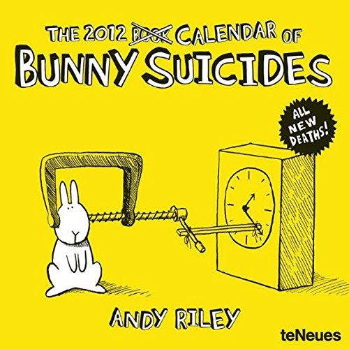 9783832751883: 2012 Andy Riley Bunny Suicides Wall Calendar (English, German, French, Italian, Spanish and Dutch Edition)