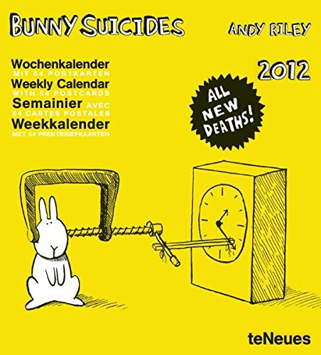9783832752156: 2012 Bunny Suicides, Weekly Postcard Calendar (English, German, French and Dutch Edition)
