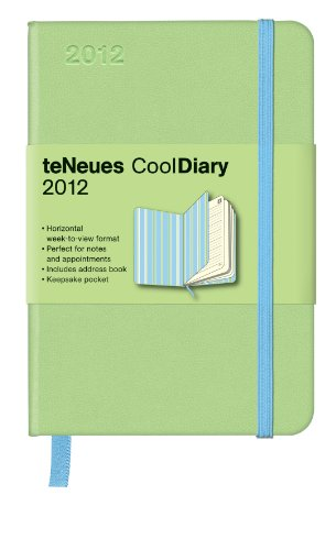9783832752446: Cool Diary Wochenkalender Light Green/Stripes Blue 2012, small