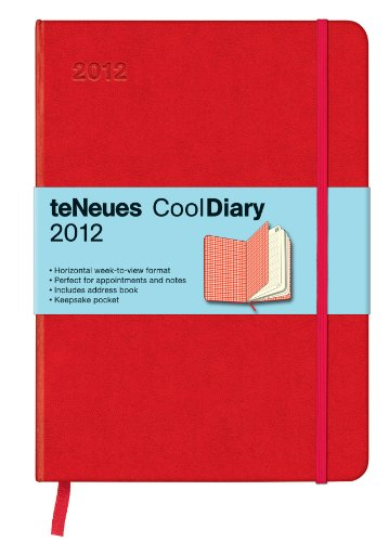 9783832752491: Cool Diary Wochenkalender Red/Squares Red 2012, medium