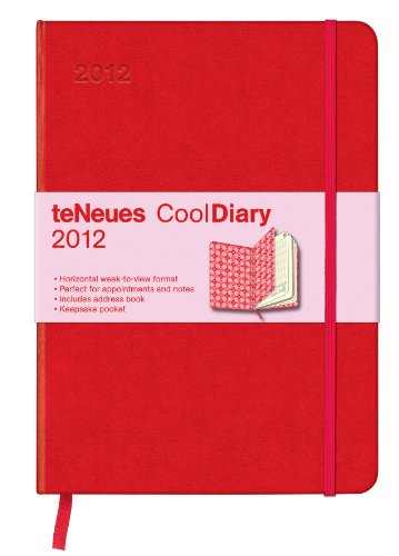 9783832752552: 2012 Red/Argyle Rose Cool Diary Weekly (Large) (English, German, French, Italian, Spanish and Dutch Edition)