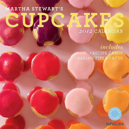 9783832753160: Martha Stewart's Cupcakes 2012 Calendar: Includes Recipe Cards-baking Tips & Facts