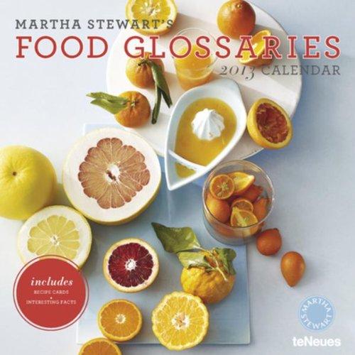 9783832757502: 2013 Martha Stewart's Food Glossaries Wall Calendar