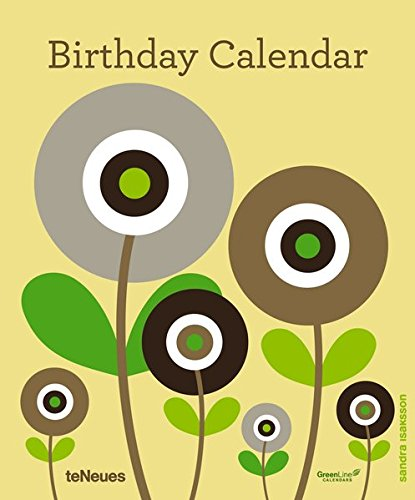 9783832767877: Birthday Calendar Sandra Isaksson 22 X 26.5