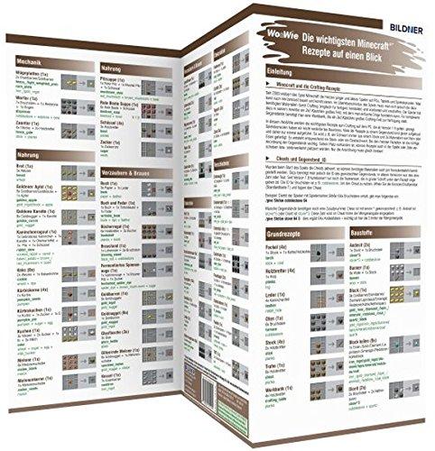 9783832801205: Minecraft - Die wichtigsten Rezepte ab Version 1.9 auf einen Blick!