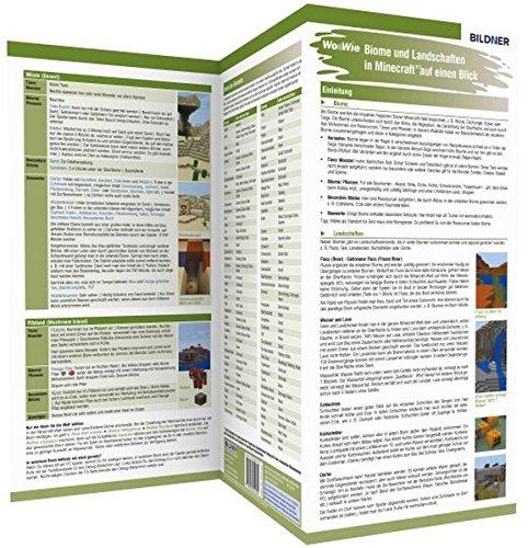9783832801304: Minecraft - Biome und Landschaften auf einen Blick!