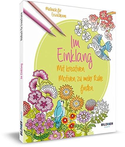 9783832801946: Malbuch für Erwachsene: Im Einklang: Mit kreativen Motiven zu mehr Ruhe