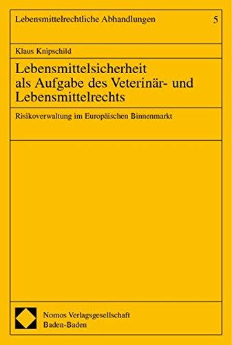 Lebensmittelsicherheit als Aufgabe des Veterinär- und Lebensmittelrechts: Klaus Knipschild
