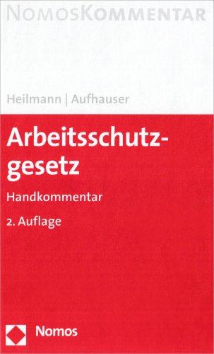 9783832904272: Arbeitsschutzgesetz: Handkommentar