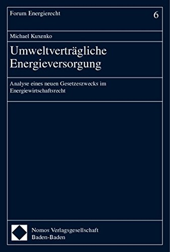 Umweltverträgliche Energieversorgung: Michael Kuxenko