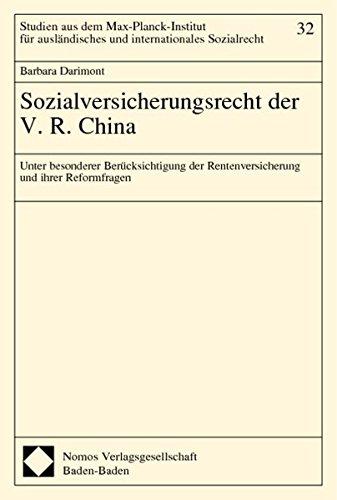 Sozialversicherungsrecht der V.R. China: Barbara Darimont