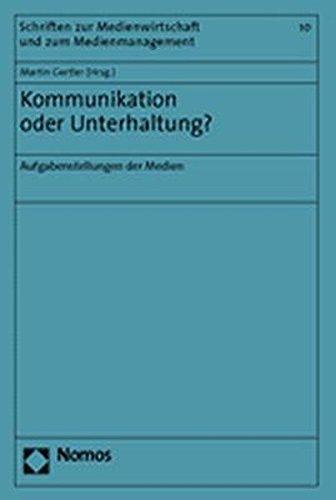 Kommunikation oder Unterhaltung?: Martin Gertler
