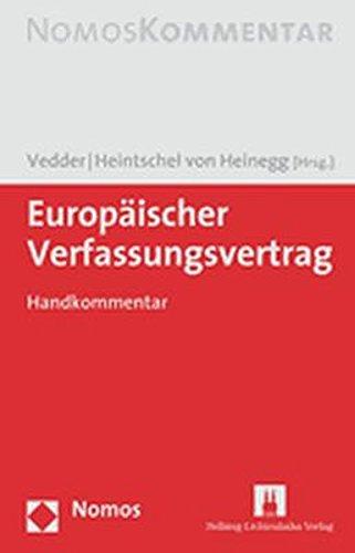 9783832910907: Europäischer Verfassungsvertrag: Handkommentar