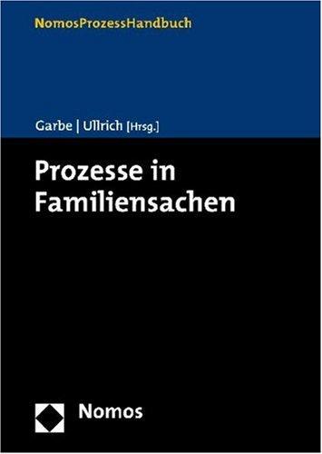 9783832910976: Prozesse in Familiensachen