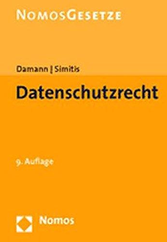 9783832911126: Datenschutzrecht