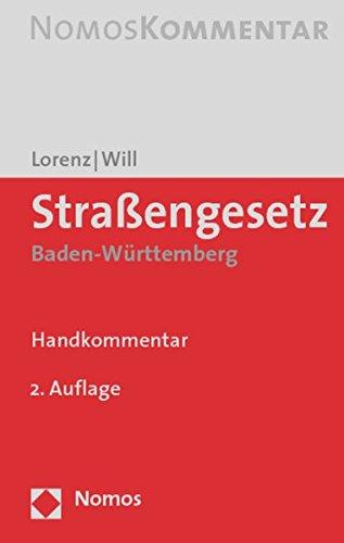 9783832911515: Strassengesetz Baden-wurttemberg: Handkommentar (German Edition)