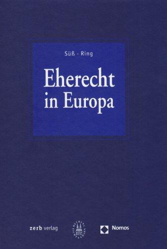 9783832914196: Eherecht in Europa