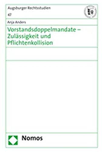 9783832918279: Vorstandsdoppelmandate - Zulässigkeit und Pflichtenkollission